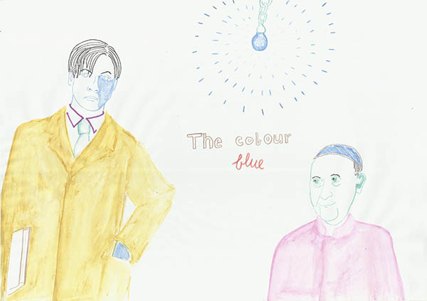 the colour blue, drawing by Jay Rechsteiner