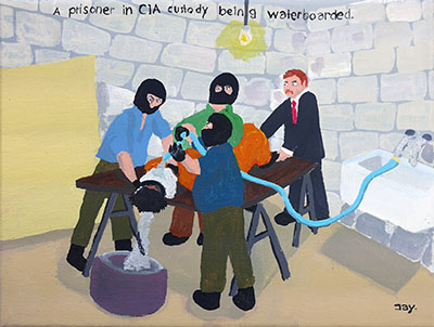 Bad Painting 56 by Jay Rechsteiner, CIA waterboarding